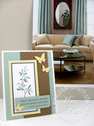 Stampin up watercolor trio favorite thoughts