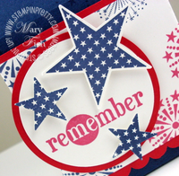 Stampin up fourth of july in a word