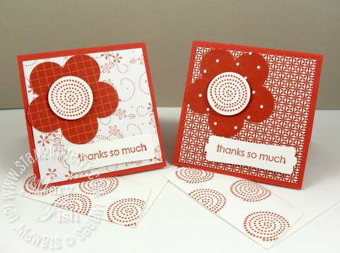 Stampin up flower punch trendy trees