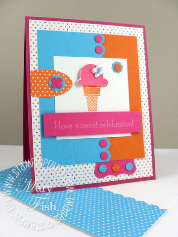Stampin up sweet scoops mojo monday 2