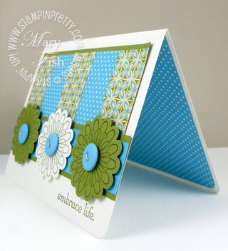 Stampin up punched posies island oasis interior
