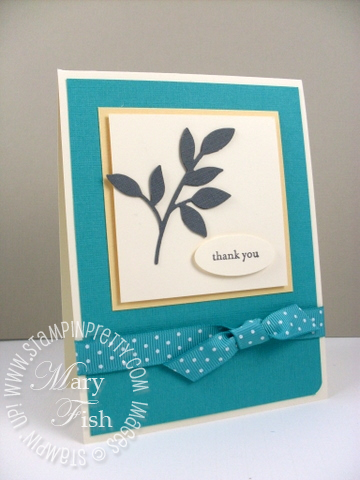 Stampin up little leaves