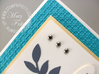 Stampin up lattice square embossing folder