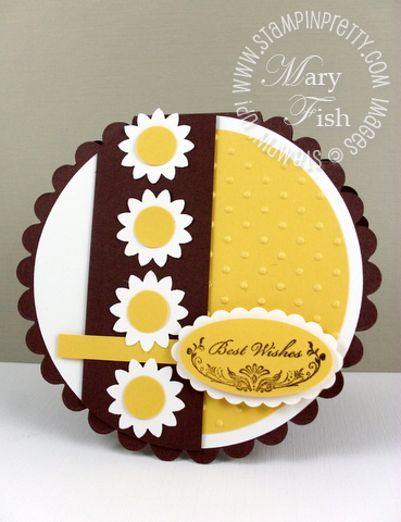 Stampin up mojo monday bigz scallop circle die card