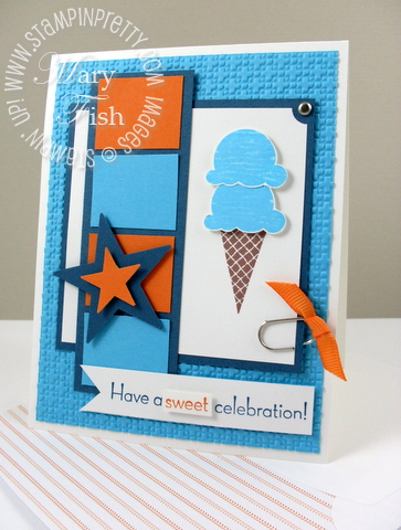 Stampin up mojo monday sweet scoops