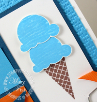 Stampin up mojo monday sweet scoops close up