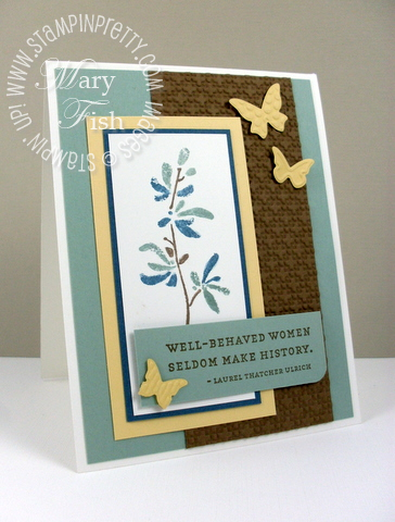 Stampin up watercolor trio