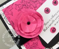 Stampin up mojo monday circle flower