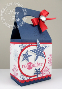 Stampin up fourth of july gable box