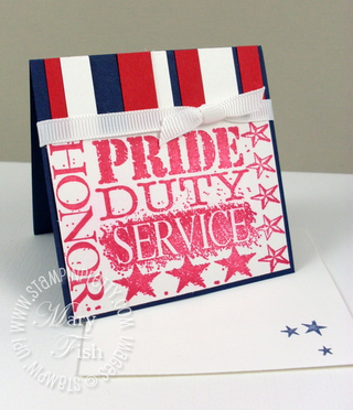 Stampin up fourth of july hero wheel