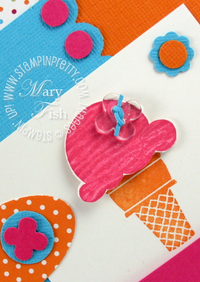 Stampin up sweet scoops ice cream cone stamp