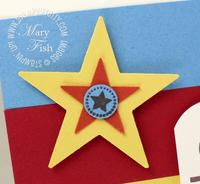 Stampin up star punch itty bitty bits