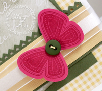 Stampin up punched posies butterfly