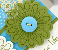 Stampin up punched posies hostess rewards