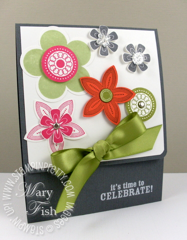 Stampin up pals paper arts punched posies