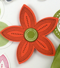 Stampin up punched posies