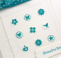 Stampin up itty bitty shapes punch pack