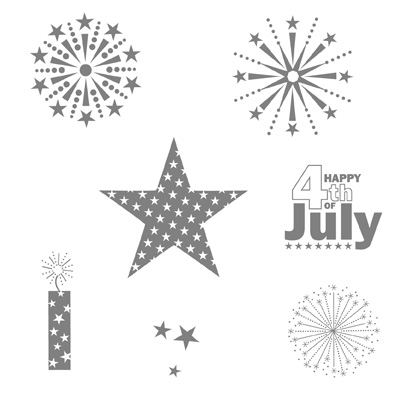 July fourth stampin pretty