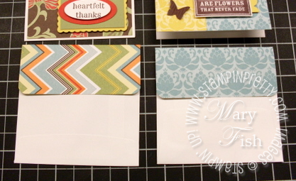 Stampin up greenhouse gala designer series paper envelope flaps