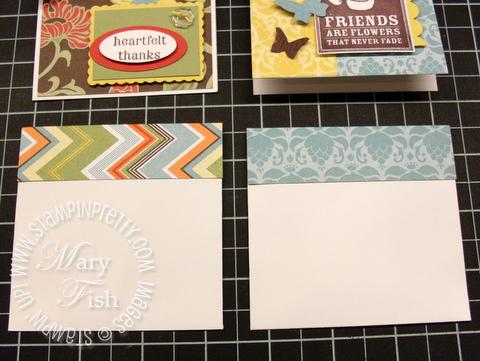 Stampin up open end envelope with designer flap