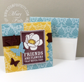 Stampin up friends never fade beautiful wings embosslit