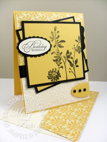 Stampin up mojo monday watercolor trio
