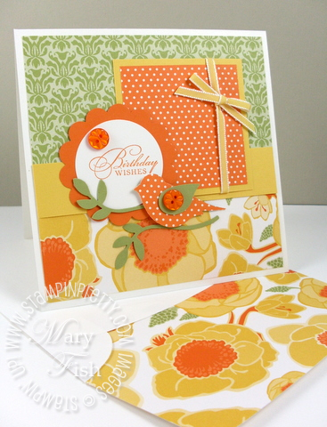 Stampin up mojo monday greenhouse gala designer paper