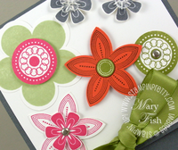 Stampin up punched posies 5 petal flower punch