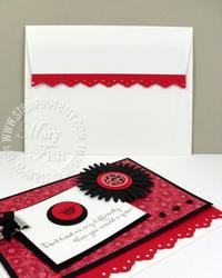 Stampin up eyelet border punch envelope flap