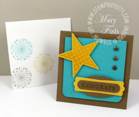 Stampin up july fourth mini congrats card