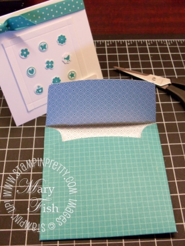 Stampin up 4 x 4 envelope paper snips