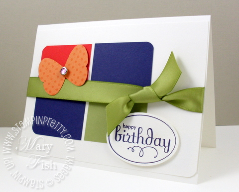 Stampin up perfect punches birthday