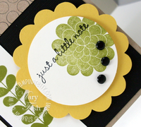 Stampin up apple blossom scallop circle punch mojo monday