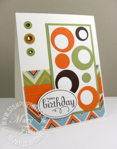 Stampin up pear pizzazz perfect punches