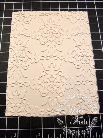 Stampin up vintage wallpaper textured impressions embossing folder