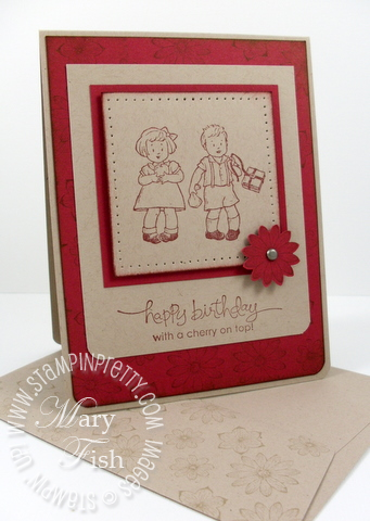 Stampin up greeting card kids