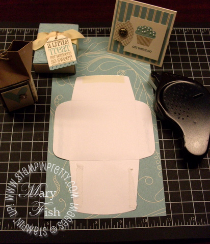 Stampin up elegant soiree designer paper mini envelope