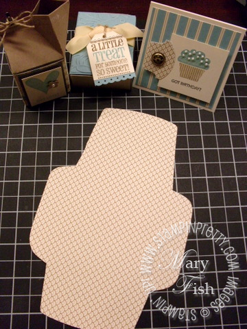 Stampin up elegant soiree designer series paper envelope