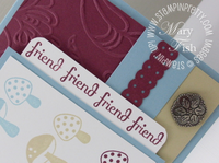 Stampin up funky four fabulous phrases close up