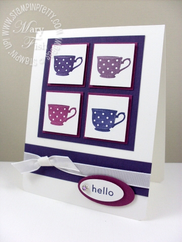 Stampin up tiny tea cup pals paper arts