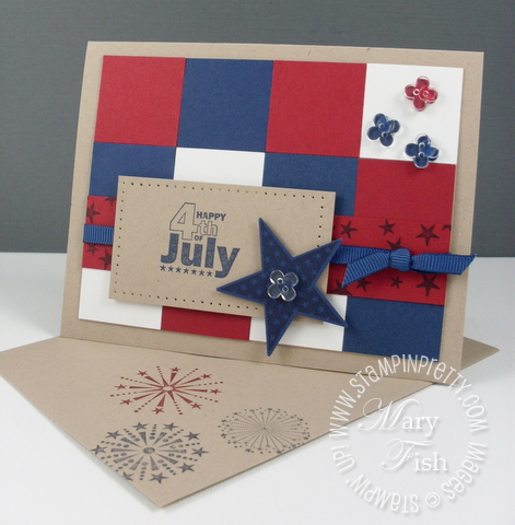 Stampin up july fourth card