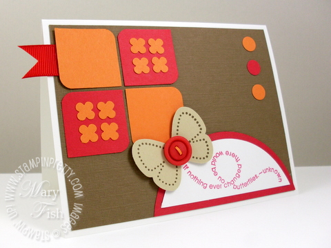 Stampin up mojo monday flight of the butterfly card
