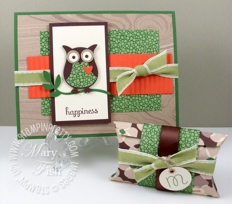 Stampin up woodland walk owl punch
