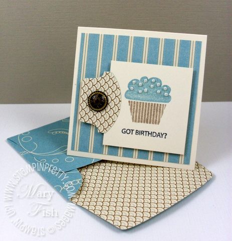 Stampin pretty got treats antique brad