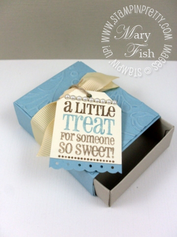 Stampin up got treats matchbox die