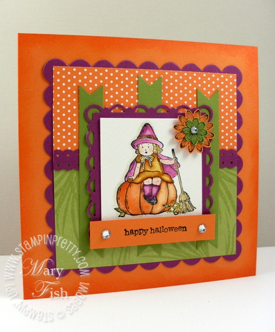 Stampin up greeting card kids halloween card