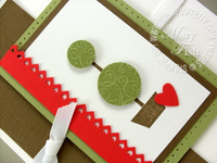 Stampin pretty playful pieces topiary tree close up