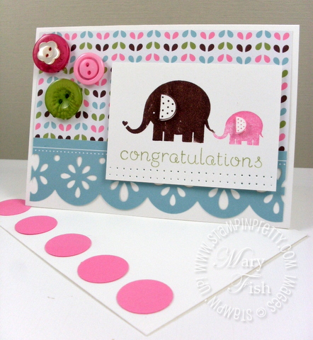 Stampin up baby steps congratulations