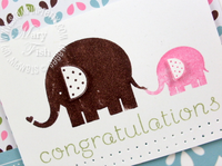 Stampin up baby steps elephant card