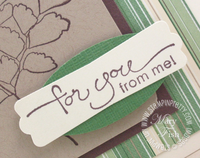 Stampin up pals paper arts a word for you